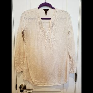 Bit & Bridle Cream Country Long Sleeve Blouse